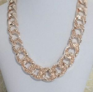 Champagne Pave Chain Necklace